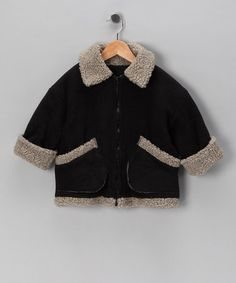 Take a look at this Black Aviator Jacket - Infant, Toddler & Boys by Corky & Company on #zulily today!