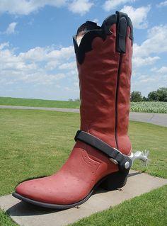 Cowboy Boot    10-feet tall  Plainview, Minnesota