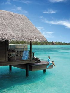 best overwater bungalow resorts maldives villingili deck