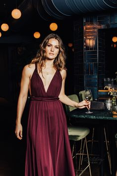 Whitestory & Friends own wrap dress in burgundy w/ separate top. Perfect as a bridesmaid dress. Shipping worldwide. Tailor Scissors, Suits You, Body Shapes, Different Styles, Style Guides, Separate, Wrap Dress, Burgundy, Bridesmaid Dresses