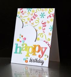 Just Kate crafting: happy birthday | W&W insd background challenge                                                                                                                                                                                 More