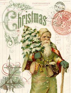 Paper Christmas Santa Print