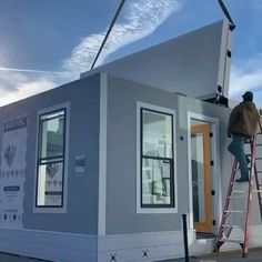 Building A Container Home, Container House Plans, Container House Design, Tiny House Design, Container Homes Cost, Modern Bungalow House, Modern House Plans, Shipping Container Home Designs, Rustic Kitchen Design