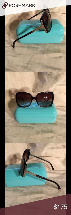 🌟🌟CLOSET SALE, MAKE AN OFFER ! 🌟🌟 🌟Beautiful Black & Gold Tiffany Sunglasses. These glasses are incredibly beautiful but there are some minor scratches on the lens. They come with the hard shell case. Tiffany & Co. Accessories Sunglasses