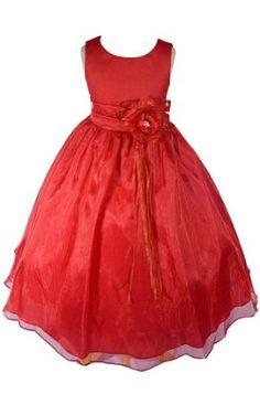 Amazon.com: AMJ Dresses Inc Girls Red Flower Girl Christmas Dress Sizes 2 to 12: Clothing
