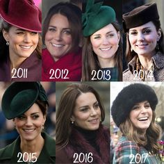 """759 Likes, 11 Comments - HRH The Duchess of Cambridge (@katemiddletonnn) on Instagram: """"•swipe to see more• Let's look back at Kate's Christmas Day Service Outfits every year! ❤️ . .…"""""""