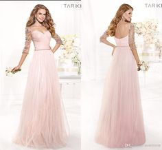 Princess Collection Sweetheart A-line Soft Tulle Floor-length Half Sleeves Beaded Evening Gowns 2014 Tarik Ediz Summer Zip-up Prom Dresses, Free shipping, $130.26/Piece | DHgate Mobile