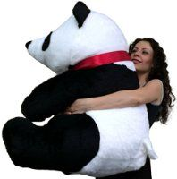 American Made Giant Stuffed Panda Bear 32 Inches Big and Soft Plush Bear Made in the USA America