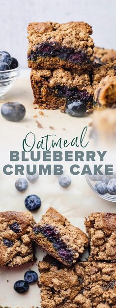Serve up this blueberry crumb cake for any occasion! It's a perfectly sweet oat flour cake that is filled with bursting blueberries, and naturally sweetened with coconut sugar. It is a true-crowd pleasing and easy dessert that can be served for brunch or a healthier dessert! | asimplepalate.com #crumbcake #oatflour #oatmealrecipe #blueberry #dessert Oat Flour Recipes, Oatmeal Recipes, Easy Desserts, Dessert Recipes, Banana Coffee Cakes, Blueberry Oatmeal, Cake Flour, Coconut Sugar, Healthy Breakfast Recipes
