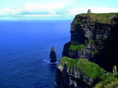 When I think of paradise I think of the Cliffs of Moher. The most amazing feeling standing on the Cliffs of Moher with wind in your face, flowers blooming, and a harp playing in the background.