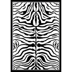 @Overstock - Update your home decor with a new rug Novelty rug features a zebra print in black and white Floor rug is machine-made of 100-percent polypropylenehttp://www.overstock.com/Home-Garden/Alexa-Zebra-Animal-Print-Black-White-Rug-310-x-57/4365525/product.html?CID=214117 $47.49