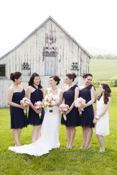 Bride and Bridesmaids Portrait | Rustic elegant wedding at The Comus Inn, Maryland | Anna Kerns Photography annakerns.com