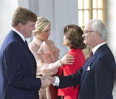 Guillermo Alejandro y Máxima de Holanda visitan Suecia