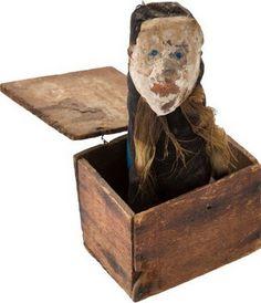 Primitive 19th century Jack in the box.