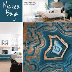 Sherwin Williams Marea Baja, 2017 color trends, peacock blue, teal blue, blue-green, green-blue, blue-green and gold geode