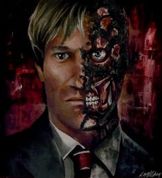 The ultimate tosser (yeah, like that joke hasn't been heard before) Harvey Dent as Two-Face as played by Aaron Eckhart. Harvey 'Two Face' Dent Bruce Timm, Justice League, Marvel, Batman Metal, Cool Pokemon Wallpapers, Batman Universe, Dc Universe, Arte Dc Comics, Batcave