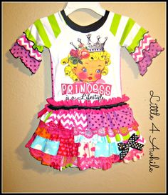 Princess Row of Ruffles Upcycle Dress by Little 4 Awhile  www.facebook.com/groups/little4awhile