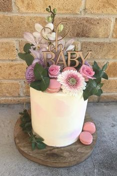 Ideas Baby Shower Cake For Girls Flowers Babyshower Boho Baby Shower, Shower Bebe, Baby Shower Flowers, Floral Baby Shower, Baby Boy Shower, Baby Shower Cake For Girls, Cakes For Baby Showers, Simple Baby Shower Cakes, Babyshower Themes For Girls