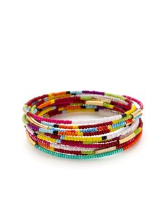 Set Of 10 Bangles by Noir Jewelry on Gilt
