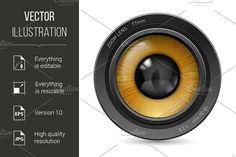 Camera lens eye by DvargShop on @creativemarket