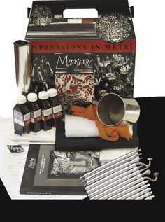 learn the art of pewter repujado, pewter work, repousse or pewter embossing with this comprehensive beginner kit from Mimmic Gallery and Studio.