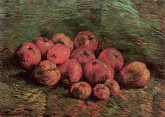 Still Life with Apples (Autumn), Winter Oil on Canvas by Vincent van Gogh. Museums: Van Gogh Museum Amsterdam, The Netherlands, Europe; Vincent Van Gogh, Desenhos Van Gogh, Van Gogh Still Life, Van Gogh Pinturas, Still Life With Apples, Van Gogh Paintings, Art Van, Dutch Artists, Art Database