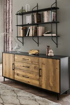 Buy Jefferson Large Sideboard from the Next UK online shop Painted Sideboard, Large Sideboard, Oak Sideboard, Living Room Paint, Home Living Room, Living Room Decor, Metal Furniture, Dining Room Furniture, Wood Online