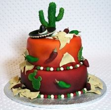 Mexican chiles and chips cake