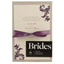 Brides® Invitation Kit, Ivory & Purple