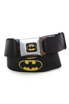DC Comics Batman Seat Belt Belt