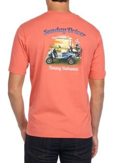 Tommy Bahama Men's Sunday Driver Graphic Tee Shirt - Fusion - 2Xl