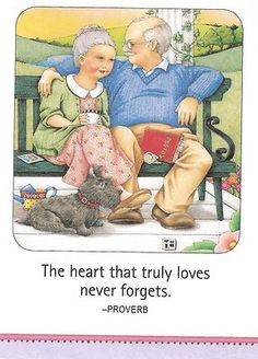 The Heart That Truly Loves Never Forgets Park Bench Magnet Mary Engelbreit Art | eBay