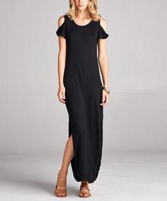 Black Twisted Cutout Maxi Dress