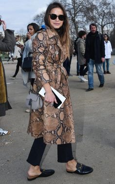 7559a67e5a4 Miroslava Duma wears the Gucci backless loafers (note the well tended…