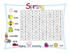 Word Search Printable