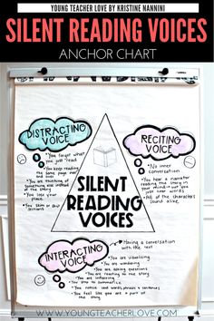 Help your struggling readers understand their silent reading voice. The lack of an interacting silent reading voice is a big reason why readers struggle. Reading Groups, Guided Reading, Teaching Reading, Reading Comprehension, Reading Time, Teaching Ideas, 4th Grade Classroom, Middle School Classroom, Future Classroom