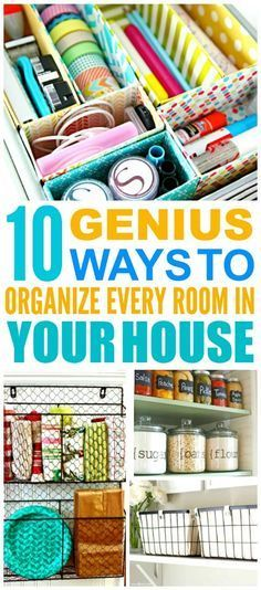 These 10 clever ways to organize your entire home are THE BEST! I'm so glad I found these GREAT TIPS! Now I have a great hacks for organizing every room in my house! Definitely pinning!