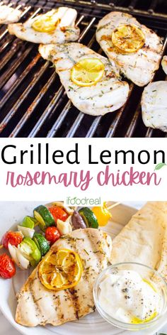 This Grilled Lemon Rosemary Chicken is tender, juicy, and packed with flavor with as little as 30 minutes of marinating. Best of all, this can be baked, too, for delicious grilled rosemary chicken breast year-round! Plus, it's gluten-free and low-carb! Healthy Grilling Recipes, Healthy Family Meals, Healthy Breakfast Recipes, Grilled Rosemary Chicken, Meals To Make With Chicken, Crockpot, Chicken Recipes, Chicken Meals, Health Dinner