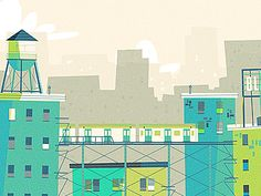 Working a NYC themed skyline for a website banner. Just playing with colour palettes right now.