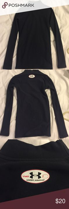 Under armour youth medium coldgear Black under armour long sleeve shirt designed to keep you warm. Perfect for skiing snowboarding or cold football games. In great condition! Under Armour Shirts & Tops Sweatshirts & Hoodies