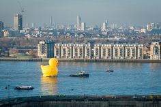 Not so long ago, England had an empire on which the sun never set. These days, it's got a 50-foot-tall rubber duck sailing down the Thames. Nice going, Brits!