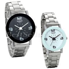 Men Women New Fashion Watch Stainless Steel Band Quartz Analog Wrist Watch Gift #Unbranded #Sport