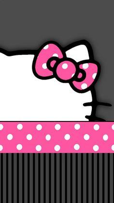 O Kittyo Kitty Wallpaper Bow Wallpaper Wallpaper Backgrounds Phone Backgroundso