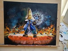 squirtleisthebest:  Awesome Vivi Painting from Final Fantasy  SOURCE  #anime #cosplay #costume #otaku #gamer #videogames