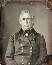 Zachary Taylor died July 9, 1850, 16 months after his inauguration; the third-shortest tenure of any President.   Taylor was the last President to own slaves while in office. He was the second of three Whig presidents, the last being Fillmore Taylor was also the second president to die in office, preceded by William Henry Harrison who died while serving as President nine years earlier, as well as the only President elected from Louisiana.