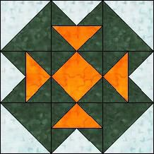 """Quilt-Pro Systems - Block of the Day Archive """"Four T's"""" (No Pattern)"""