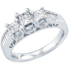 1ct TW Three-Diamond Anniversary Ring - Engagement - Clearance - Helzberg Diamonds