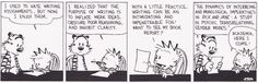 Calvin and Hobbes on writing