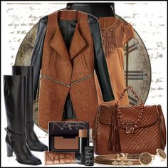 """Leather and Bronze"" by jacque-reid on Polyvore"