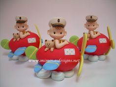 Airplane - Cake Topper -Primary colors